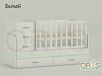 """Кровать - трансформер """"Maya"""" ORIS-mebel (цвет Белый)"""