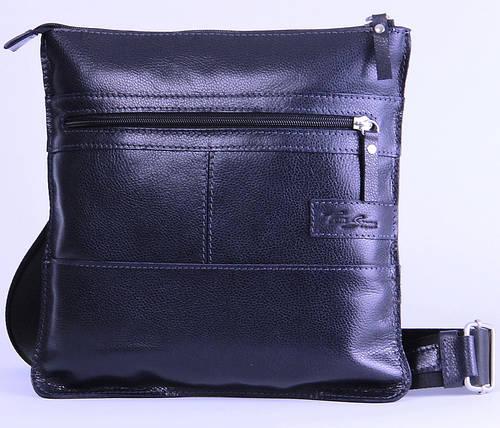 Удобная мужская кожаная сумка на плечо Tom Stone 514BL синий