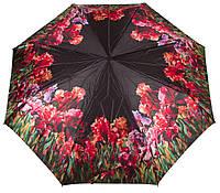 Автоматический женский зонт в цветы ZEST (ЗЕСТ) Z53964-4 Антиветер!
