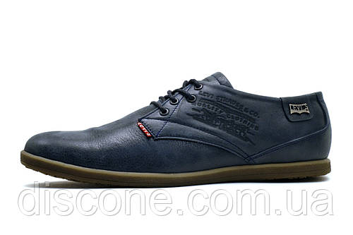 Мужские спортивные туфли Levi's, кожа, темно-синие, р. 39 40