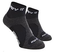 MudSoc Mid Black/Grey термоноски для бега и фитнеса