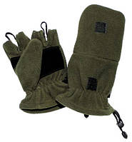 Перчатки беспалые MFH с клапаном флис Олива, фото 1