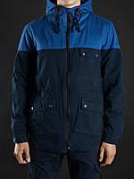 Куртка Staff Classic Cotton темно-синяя-электрик