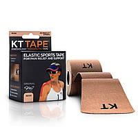 Кинезио тейп (Kinesio tape) эластичный пластырь (20 лент, l-5м x5см, бежевый)