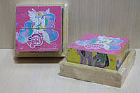 Деревянные кубики MY LITTLE PONY в коробке 4 шт.
