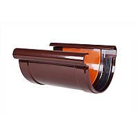Соединитель желоба Profil 90 коричневый (13843)