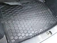 Коврик в багажник SKODA Fabia II с 2007 г. хетчбэк (Автогум AVTO-GUMM) пластик+резина