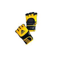 Перчатки тренировочные ММА/COMBAT  желто/черн adiCSG041