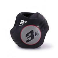 Медбол с захватом Adidas- 3кг (ADBL-10412)