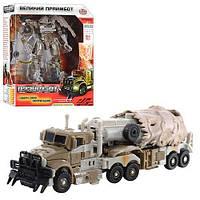 Трансформер Трейлер 2 в 1 Transformers Боевые роботы: 17см