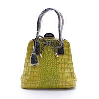 Современная женская сумка Velina Fabbiano 55153 желтая эко-кожа