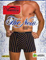 Мужские трусы боксеры Venice хлопок + бамбук по 12 штук в упаковке