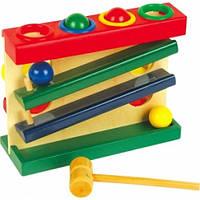 """Деревянная игрушка-стучалка Горка-шарики большая ТМ """"Игрушки из дерева"""" Д102"""