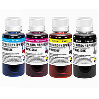 Комплект чернил ColorWay HP 121/134 4*100 мл BK/C/M/Y (CW-HW350SET01)