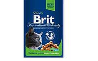 Brit Premium Cat Pouches with Chicken Slices for Sterilised (влажный корм для стерилизованных кошек), пауч, 100г