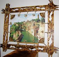 Картина на холсте в деревянной раме под старину.