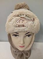 """Комплект вязаный детский """" Вертолет """" шапка шарф мальчик."""