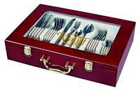 Набор столовых приборов в чемодане Elegance 72 предмета Krauff