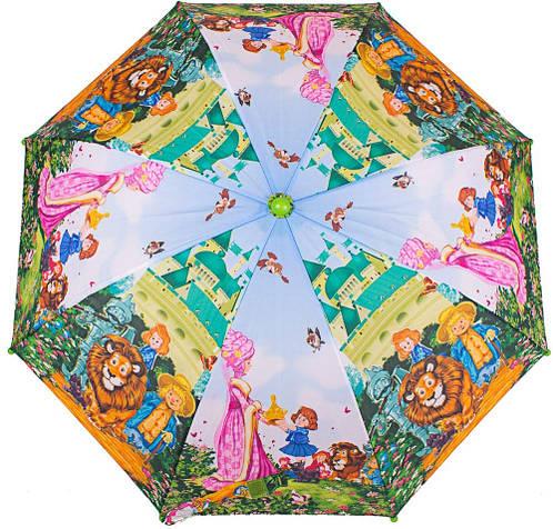 Облегченный детский зонт-трость механический ZEST (ЗЕСТ) Z21565-3 Волшебник Изумрудного города