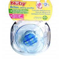 Пустышка Nuby Brites Вишенка синяя 0-6м (5734SCSN-2)