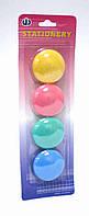 Набор магнитов. Магниты разноцветные  для досок, в наборе 4 штук * 40 миллиметров