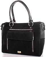 Комбинированная женская сумка из натуральной замши и искусственной кожи ETERNO (ЭТЕРНО) ETMS0592-2