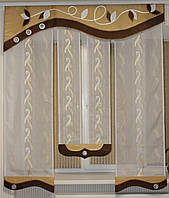 Ламбрекен №174 1,50м с тюлью панельками в кухню спальню детскую