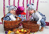 Детский новогодний костюм. Новогодний костюм мышонка. Карнавальный костюм.костюм для мальчика и девочки.