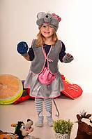 Детский новогодний костюм. Новогодний костюм мышка. Карнавальный костюм.Новогодний костюм для девочки.