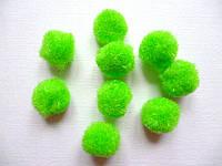 Шарики- серединки зеленые, 14мм