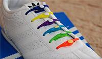 Силиконовые шнурки Dawdler Latchet  для обуви, набор 12 шт. один цвет в наборе (в наличие 5 цветов)