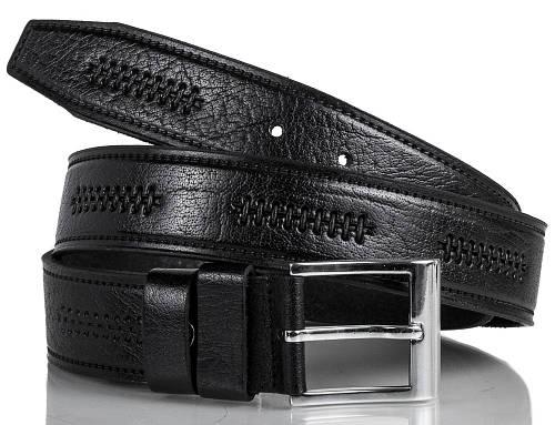 Элитный мужской кожаный ремень Y.S.K. (УАЙ ЭС КЕЙ) SHI4-2096