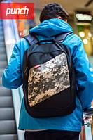 Городской модный рюкзак мужской/женский PUNCH Black-Occupat