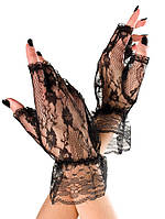 Короткие перчатки из гипюра