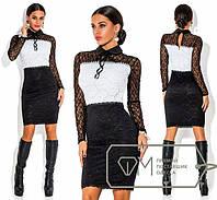 Платье из ажурного гипюра