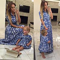 Family Look Парные платья Valentino мама+дочка (три варианта моделей)