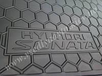 Коврик в багажник HYUNDAI Sonata VI с 2005 г. седан (AVTO-GUMM) пластик+резина