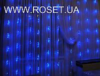 "Гирлянда ""водопад"" 560 LED, 3*2 метра, белого и синего цвета"