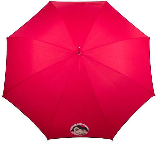 Ярко-красный зонт-трость женский полуавтомат AIRTON (АЭРТОН) Z1627-3