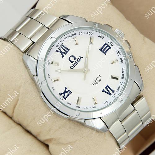 Кварцевые наручные часы Omega 003B Quartz Silver/White 1018-0073