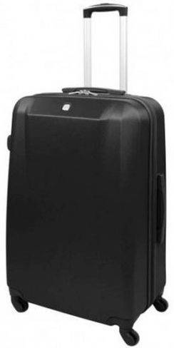 Удобный пластиковый чемодан 91,7 л., четырехколесный Swiss Gear 6072202177 (черный)