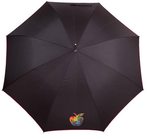 Классический черный зонт-трость женский полуавтомат AIRTON (АЭРТОН) Z1627-7