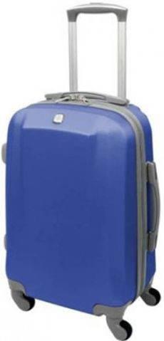 Яркий пластиковый чемодан 34,4 л., четырехколесный Swiss Gear 6072323154 (синий)