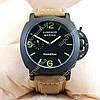 Стильные наручные часы Panerai Officine Black/Black-green 3801