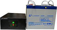 Комплект резервного питания ИБП Luxeon UPS-600NR + АКБ LX12-60G 60Ah для 5-7ч работы газового котла