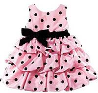 Стильное нарядное платье для девочки 3-6 мес, 9-12 мес