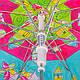 Яркий зонт-трость облегченный детский полуавтомат AIRTON (АЭРТОН) Z1651-2, фото 4