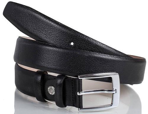 Строгий мужской кожаный ремень Y.S.K. (УАЙ ЭС КЕЙ) SHI1006