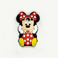 Резиновый 3D чехол для Samsung Galaxy Core I8262 / I8260 Minnie Mouse