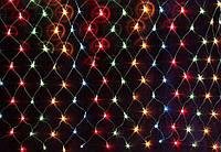Электрогирлянда LED сетка мульти